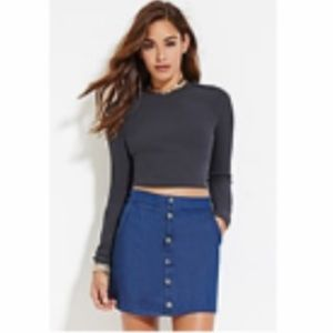 NWT Ribbed knit crop top